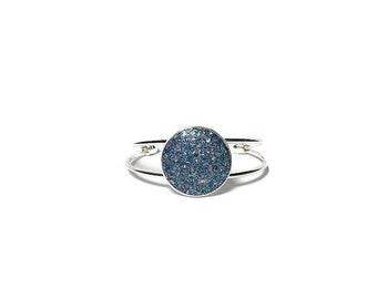 druzy bracelet, mermaid druzy, drusy jewelry, under 20 dollars, geode jewelry, cuff bracelet, crystal bracelet, aqua druzy bracelet, galaxy
