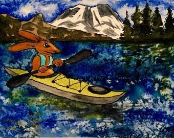 Notecard: Kayak Mouse