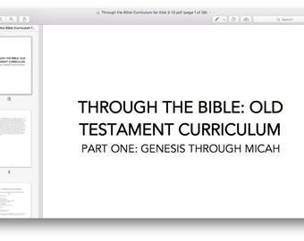Through the Bible Curriculum - Part 1 - Genesis through Micah