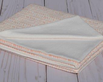 GOTS Certified Organic Cotton Baby Blanket, Organic Cotton Fleece Blanket, Custom Blanket, Hemp  baby blanket, Bamboo baby blanket