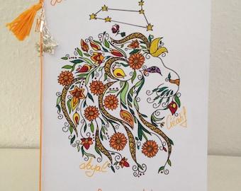 Astrology Leo - Mandala - birthday card