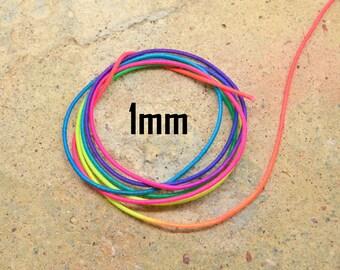 1 meter wire elastic diameter 1 mm neon Rainbow muticolore rainbow sky
