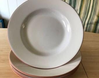 Loneoak Normandy White Terra Cotta Soup Bowl