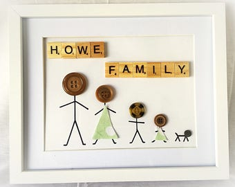 Personalised framed button family