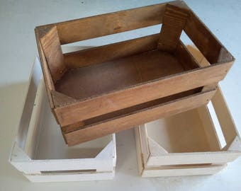Lot 3 25x15x10 5:00 wooden boxes, neutral white 1colour 1colour 1colour cm Walnut
