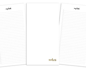 Standard Shopping List Pages Printable Insert - TN - Plain Cover