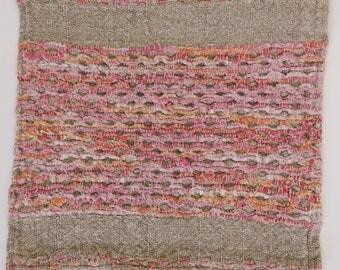 Place mats woven, handmade, linen and cotton lirette 30 / 30cm