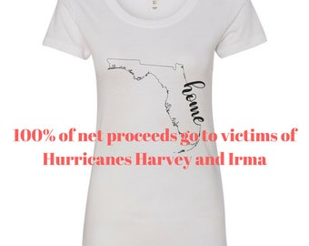 Home Pray Strong T-Shirts for Florida and Texas - Custom Design (100% of all net proceeds go to victims of these storms)