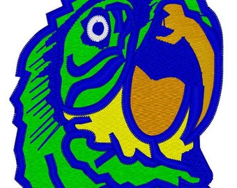 Parrot Head Embroidery File