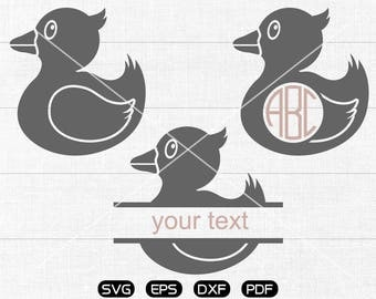 Duck Svg, Duck Clipart, Monogram Frame cricut, cameo, silhouette cut files commercial & personal use