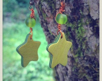 Earrings small colorful stars