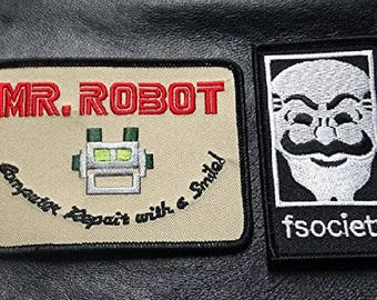 MR Robot FSOCIETY TV Show Costume 2 pc Patch