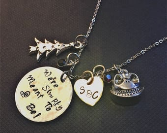 Jack Skellington Nightmare Hand Stamped Necklace | Handcrafted Jack and Sally Nightmare Inspired Bracelet | Simply Meant Hammered Necklace