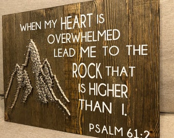 """Lead me to the Rock"""" Mountain String Art"""