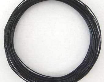 Roll scroll wire 1 mm black aluminum wire 10 meters
