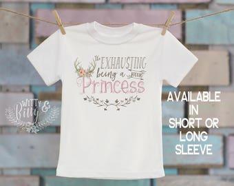 It's Exhausting Being a Boho Princess Kids Shirt, Funny Kids Shirt, Cute Kids Tee, Girl Shirt, Boho Kids Shirt, Girl Tee - T176E