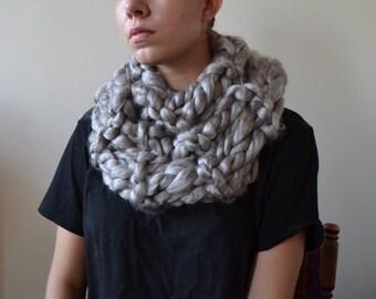 Oversized Scarf in METALLIC - silver scarf, chunky scarf, fall scarf, metallic scarf, gifts for women, winter scarf