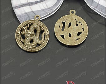 5 charms bronze dragon D25517 23MM