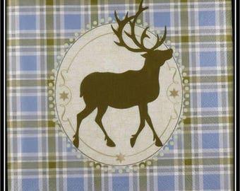 """postcard """"majestic deer"""" towel"""