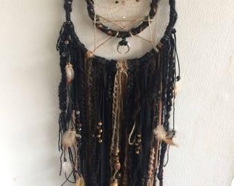 dark native black/brown dreamcatcher wallhanging