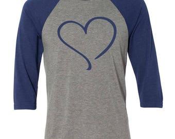 Heart love Baseball Raglan, Valentines Day Shirt, Custom Valentines Day Gift, Gift for Her, Youth Valentines Day Shirt, Heart, Valentines
