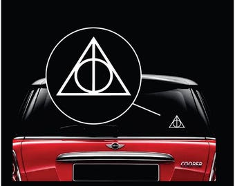Harry Potter Triangle Car Window Decal Sticker