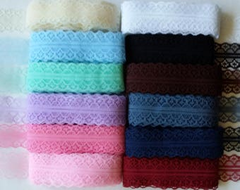 Lace 28mm sold per meter (12 different colors)