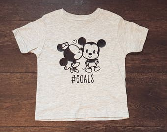 Retro disney goals tee, disney, Mickey Mouse, Minnie Mouse, mickey ears, mickey, graphic tee, shirts with sayings, goals, baby clothing