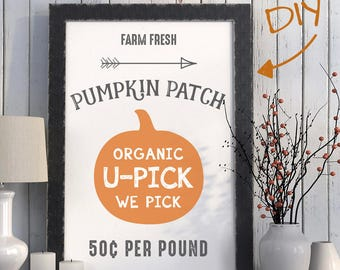 Fall Pumpkin Patch Sign Printable Instant Download