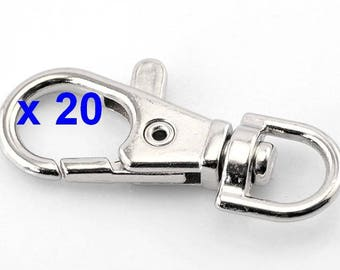 20 large lobster clasp metal lobster claw clasp