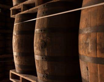 Wine barrels photo, whiskey barrels, Rum barrel, Bar decor, Rustic decor, Wall art, Photography, Dominican Republic, instant download