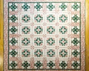 Color Wash Floral Quilt