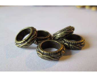 5 10mm bronze colored metal rings