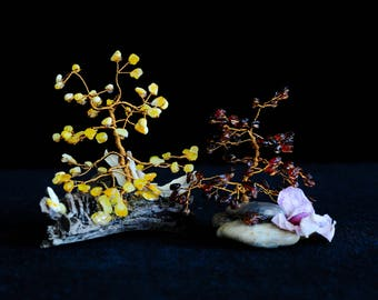 Amber, amber tree, trees, decorations, souvenirs, handicrafts, nature, individual works, exclusive works.