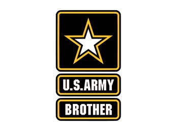 US Brother SVG and Studio 3 Cut File Decal Cut Files Logo Military Silhouette Cricut Decals Cuts Logos United States of America Army