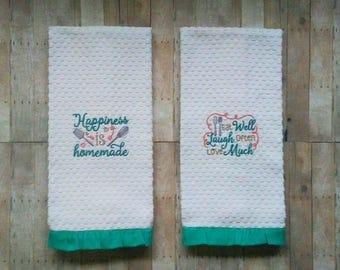 Kitchen hand towels | Etsy