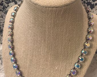 8mm Swarovski Crystal AB necklace and earring set