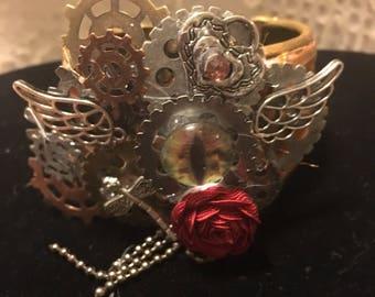 Steampunk Eye of the Storm Cuff Bracelet