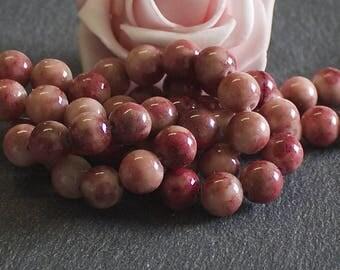 chocolate hazelnut dyed jade 8 mm PEJ61 50 beads