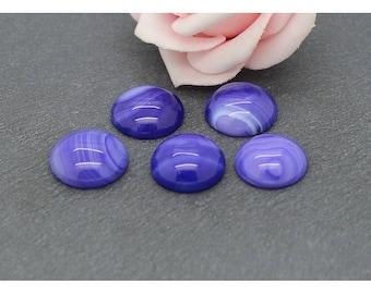 Purple agate stone cabochon 16 mm