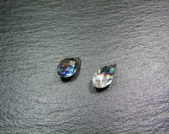 set of 2 Crystal faceted beads