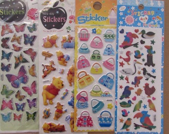 Stickers for scrapbook patterns