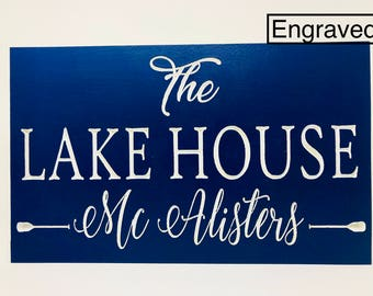 Custom Lake House Sign // Lake House Sign // Personalized Cabin Sign //  Custom Cabin Sign // Personalized Lake house sign  // Cabin Decor