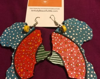 Africa collage earrings