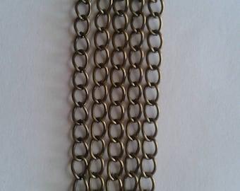 10 bronze chains - 5.5x4mm