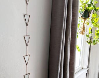 Geometric Glass Hanging / Wall Art / Home Decor / Bohemian Decor / Wall Decor / Stained Glass / Modern Decor / Bohemian Style / Hippie