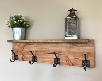 Grant III Entryway Coat Rack- Wall 4 Hook Coat Hanger