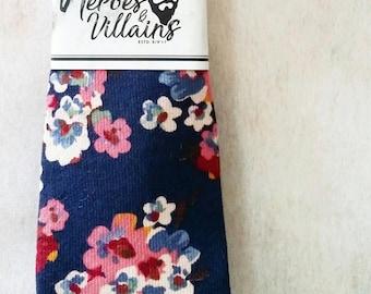 Blue floral skinny tie,dapper ties,floral tie,bow ties,skinny ties,groomsmen ties,blue ties, wedding tie,suspenders,wool tie,silk tie,bowtie