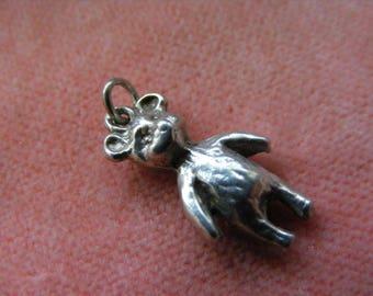 B) Vintage Sterling Silver Charm Teddy Bear