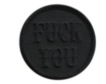 Black F*ck You Attitude State of Mind Patch